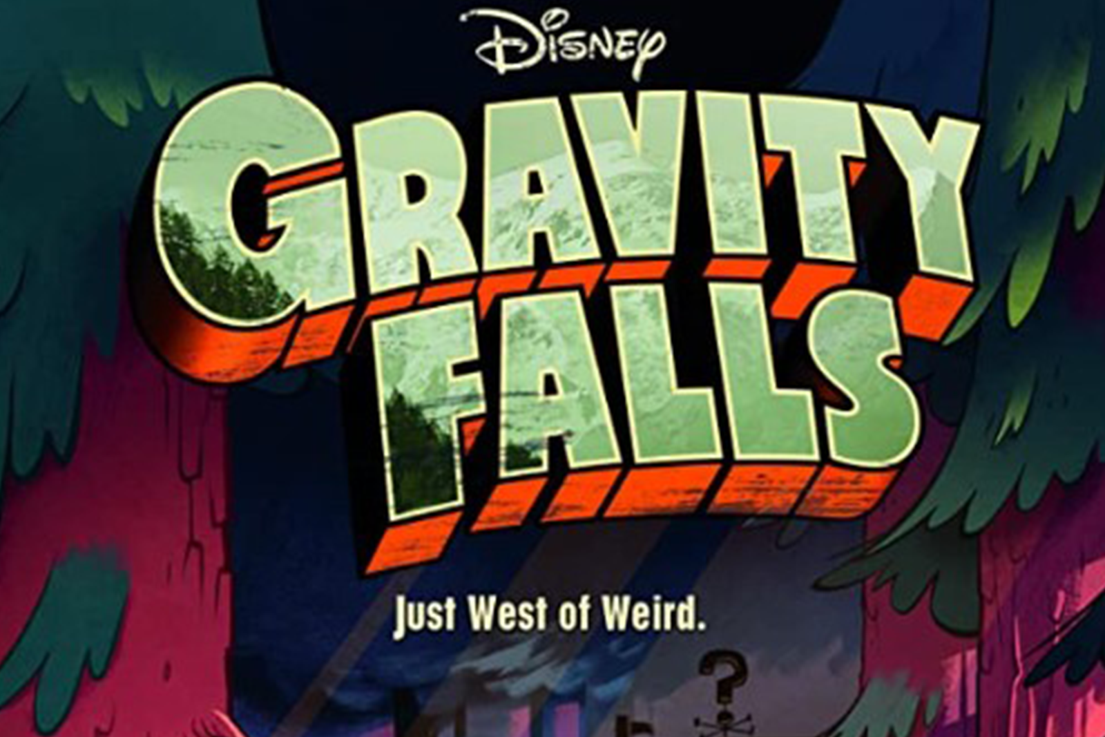 Gravity Falls West of Weird Poster
